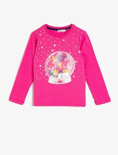 Koton Kids Yazılı Baskılı T-Shirt Pembe